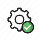 check, good, setting, valid icon