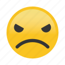 angry, emoticon, frown icon