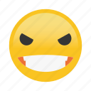 angry, emoticon, smile icon