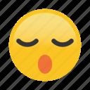 emoticon, sleep, snore icon