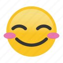 blush, emoticon, smile icon