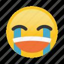 cry, emoticon, happy, sad, smile icon