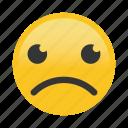 emoticon, frown, sad icon