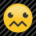confused, emoticon, eo, sad, w icon