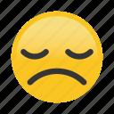 emoticon, frown, sad, tired icon