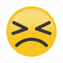 emoticon, frown, squint icon