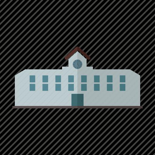 building, design, education, school, student icon