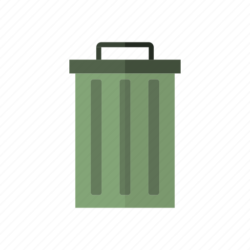 design, ecology, metal, street, trash bin icon