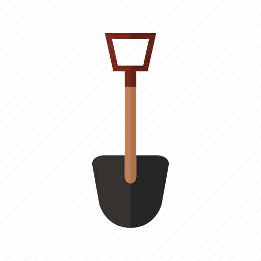 costruction, design, metal, shovel, tool, work icon