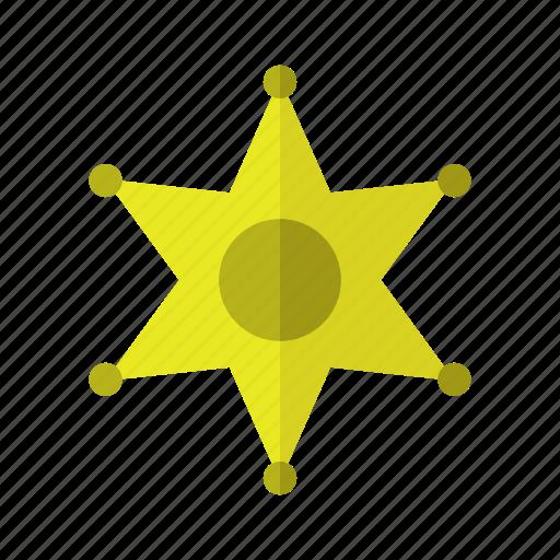 crime, design, police, sheriff star icon