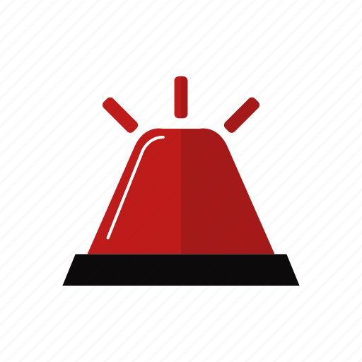 design, emergency, firefighter siren, light, red icon