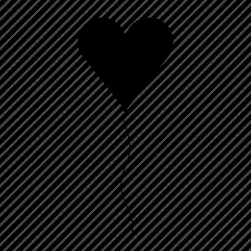 balloon, heart, love, romance, valentine, wedding icon