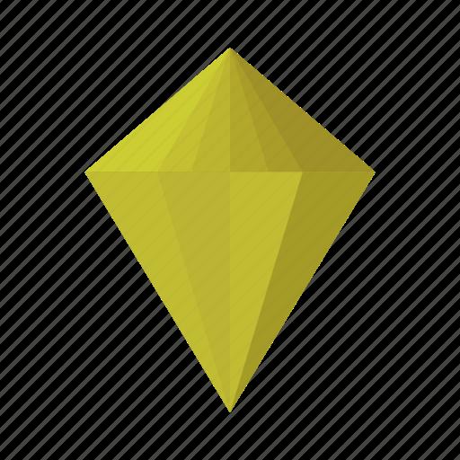design, diamond, gold, rich icon