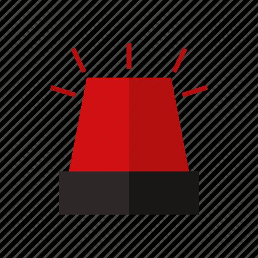 alarm, design, emergency, firefighter siren, light, red icon