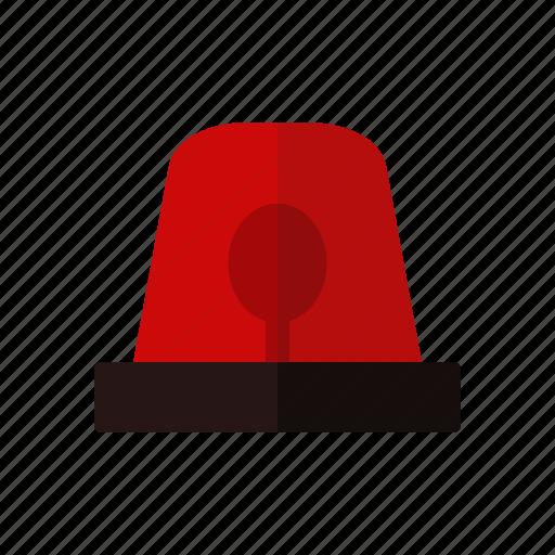alarm, design, emergency, fire engine siren, light, red icon