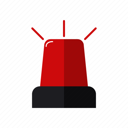 alarm, design, emergency, light, red, siren firefighters icon