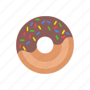 breakfast, design, donut, food, milk icon