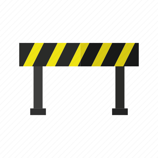 design, excavator, road, roadblock, street, work icon