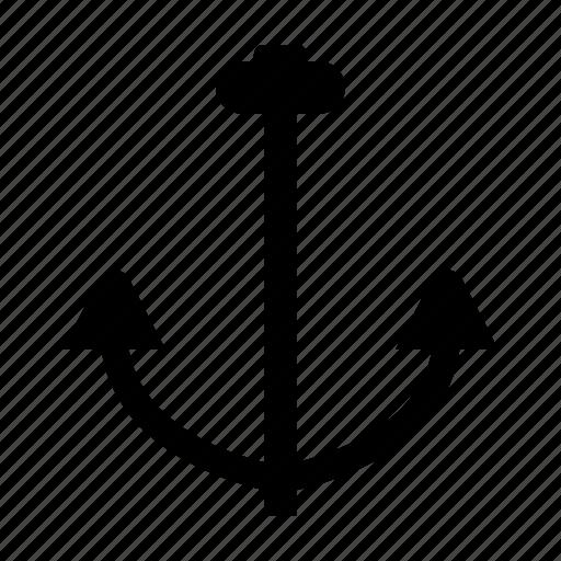 anchor, beach, boat, sea, ship, summer icon