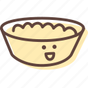 bowl, breakfast, cheese, cottage, plate, porridge icon