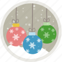 ball, balls, celebration, christmas, decoration, snow, xmas icon