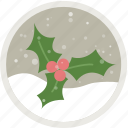 berries, celebration, christmas, decoration, holiday, holidays, xmas icon
