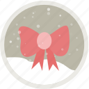 bow, bowknot, christmas, decoration, holiday, present, ribbon icon