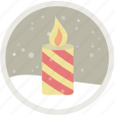 candle, celebration, christmas, decoration, holiday, party, xmas icon