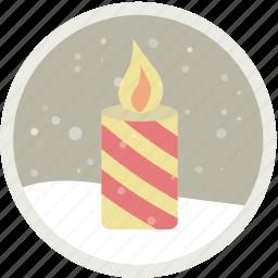 candle, celebration, christmas, decoration, holiday, party, xmas icon