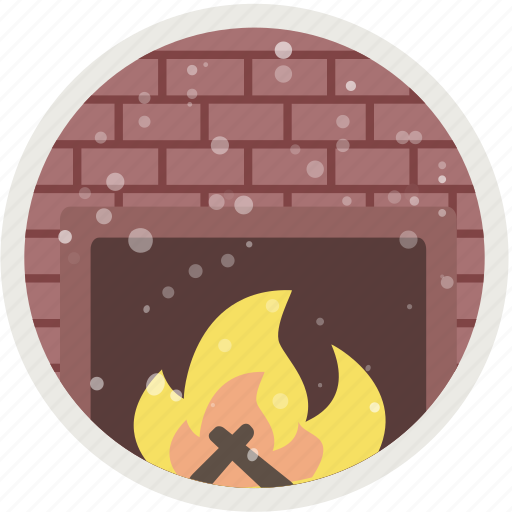 burn, christmas, fire, fireplace, holiday, warm, xmas icon
