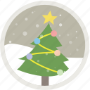 celebration, christmas, decoration, holiday, snow, tree, xmas icon