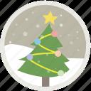 tree, snow, xmas, decoration, holiday, christmas, celebration icon