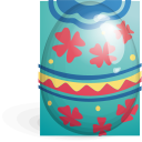 easter, egg, green, red icon