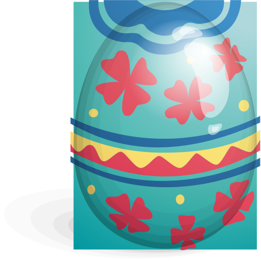 Easter, egg, green, red icon | Icon search engine