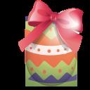 easter, egg, green, ribbon icon