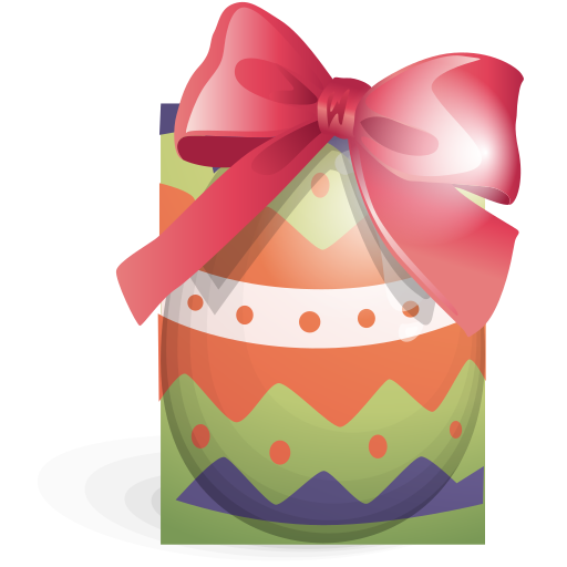 easter, egg, green, ribbon icon