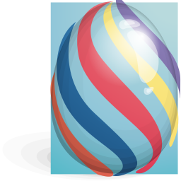 easter, egg, striped icon