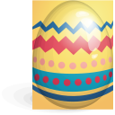 easter, egg, red, yellow icon