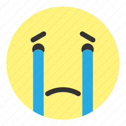 cry, crying, emoji, face, hovytech, unhappy, water icon