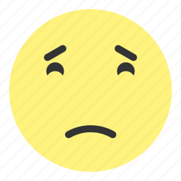 down, emoji, face, hovytech, sad, tiered, unhappy icon