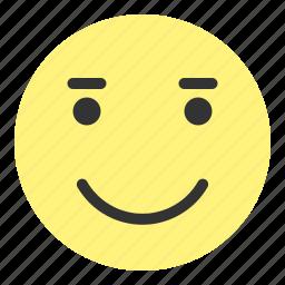 emoji, face, happy, hovytech, joy, love, smile icon