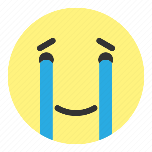crying, emoji, face, hovytech, joy, joyful, water icon