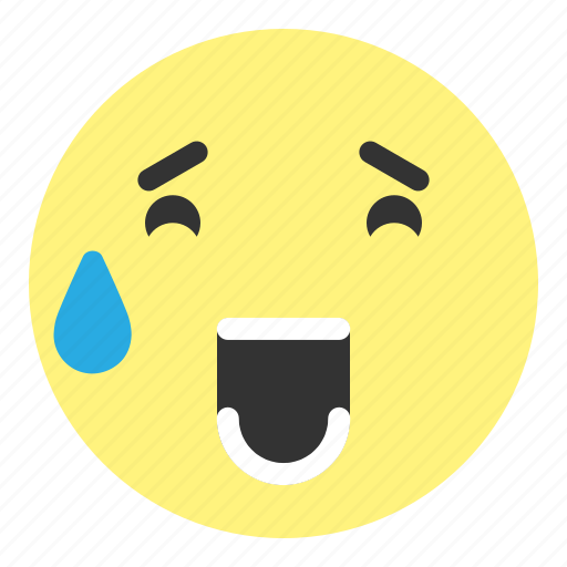 cry, emoji, face, hovytech, laughing, sad, water icon