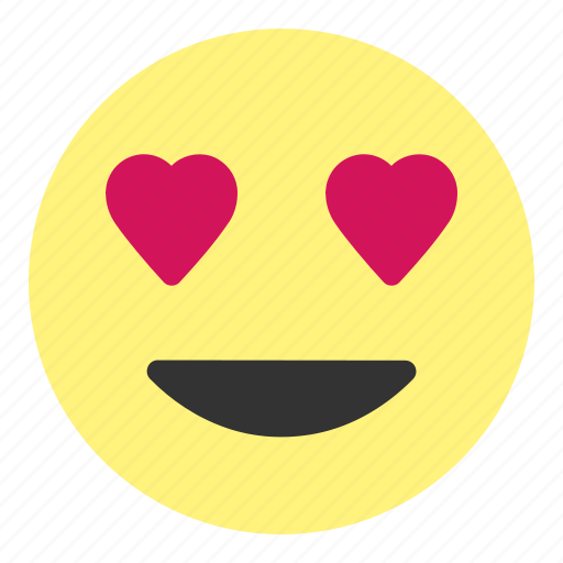 emoji, face, happy, heart, hovytech, kiss, love icon