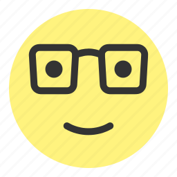 emoji, face, glass, glasses, hovytech, learn, nerd icon
