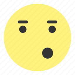 emoji, eye, face, fancy, hovytech, mouth, oohh icon
