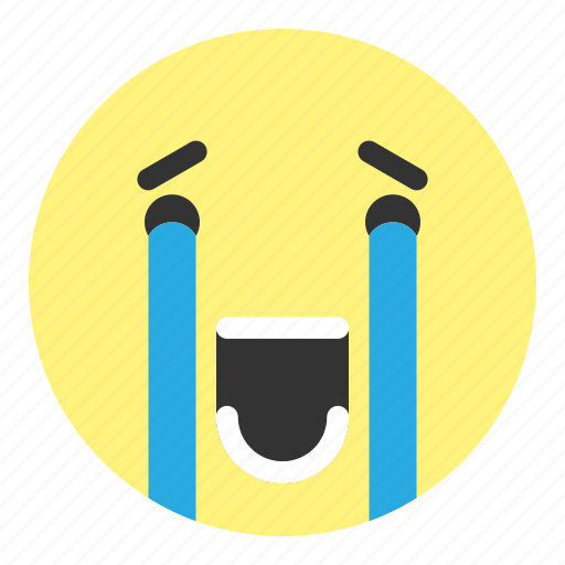 crying, emoji, face, hovytech, really, sad, water icon
