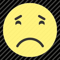 down, emoji, face, hovytech, really, sad, unhappy icon