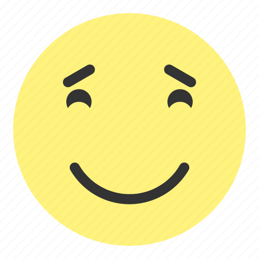 emoji, face, greatful, happy, hovytech, joy, really icon
