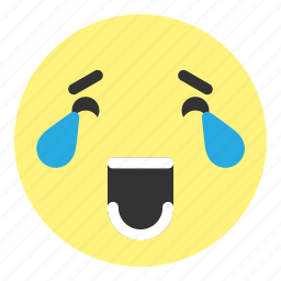 cry, emoji, face, hovytech, laughing, really, water icon
